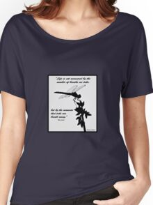 Black and White Dragonfly with quote Women's Relaxed Fit T-Shirt