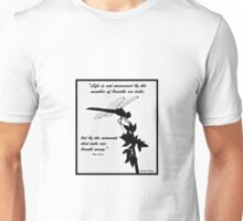 Black and White Dragonfly with quote Unisex T-Shirt