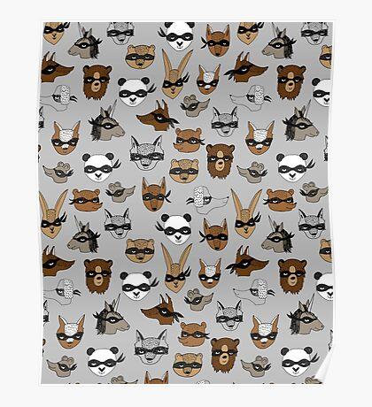 Bandit Animals by Andrea Lauren  Poster
