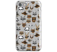 Bandit Animals by Andrea Lauren  iPhone Case/Skin
