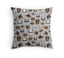 Bandit Animals by Andrea Lauren  Throw Pillow