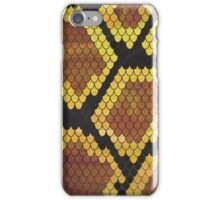 Snake Brown and Gold Print iPhone Case/Skin