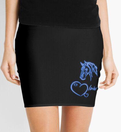 """""""Horselover""""- blue edit Mini Skirt"""