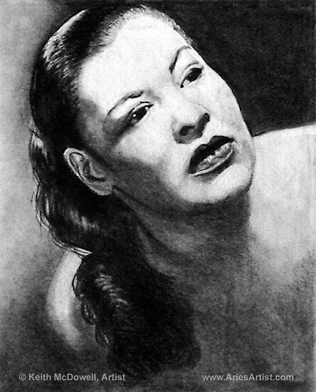 Billy Holiday @ www.KeithMcDowellArtist.com  by © Keith McDowell, Artist