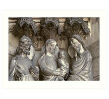 Laon Presentation of Jesus in temple on cathedral facade 19840507 0029 Art Print