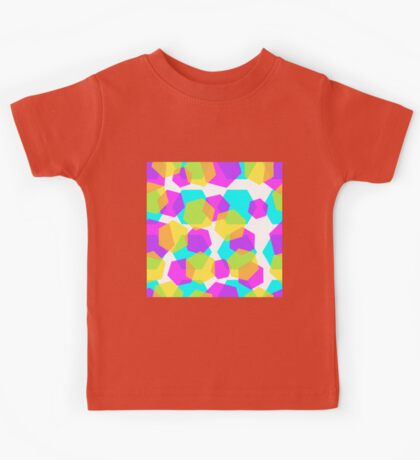 Diamonds color abstract background pattern.  Kids Tee