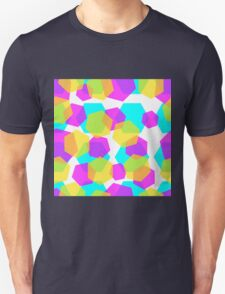 Diamonds color abstract background pattern.  Unisex T-Shirt