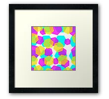 Diamonds color abstract background pattern.  Framed Print