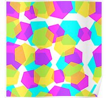 Diamonds color abstract background pattern.  Poster