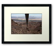 Zip Line Framed Print