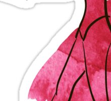 Vector hand drawing ballerina figure, watercolor illustration Sticker