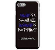 Charles Manson, quote iPhone Case/Skin