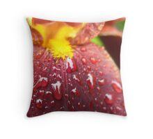 Root beer scented Iris Throw Pillow