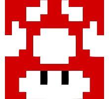 1UP Red - Super Mario Bros  Photographic Print
