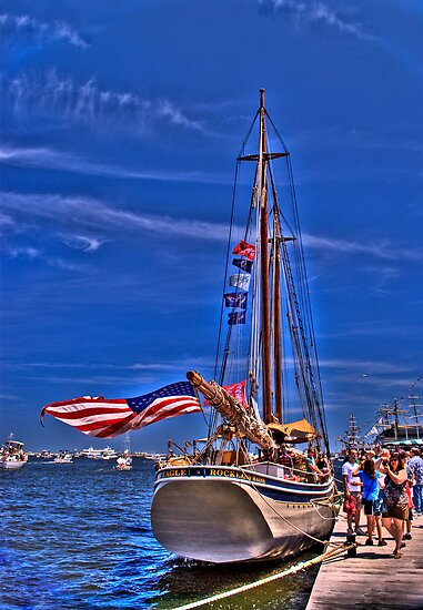 Sail Boston - American Eagle   by LudaNayvelt