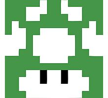 1UP Green - Super Mario Bros Photographic Print