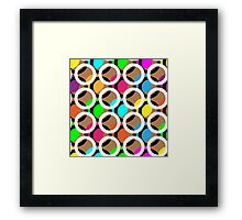 Ring and color abstract background pattern.  Framed Print