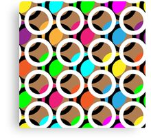 Ring and color abstract background pattern.  Canvas Print