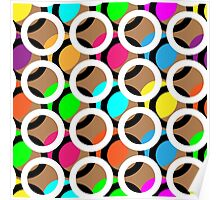 Ring and color abstract background pattern.  Poster