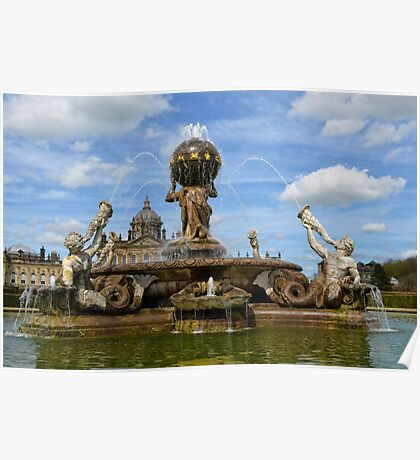 Castle Howard and Fountain Poster