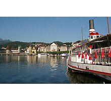Lakeside - Luzern Switzerland Photographic Print