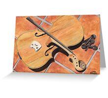 The Broken Violin Greeting Card