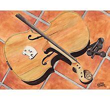The Broken Violin Photographic Print