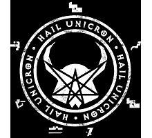 Hail Unicron - Unigram Photographic Print