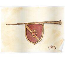 Heraldry Trumpet Poster