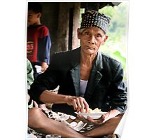 Man eating Rice in East Bali  Poster