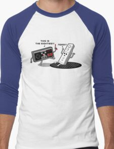 This is the eighties! Nes Men's Baseball ¾ T-Shirt