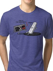 This is the eighties! Nes Tri-blend T-Shirt