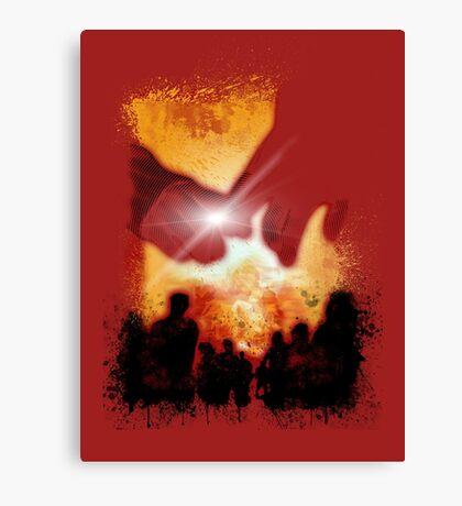 DEADBUNNEH - apocalypse RED Canvas Print