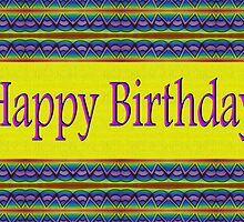 Colorful Happy Birthday by Donna Grayson