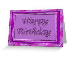 pretty purple Happy Birthday Greeting Card