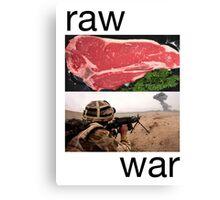Raw War Canvas Print
