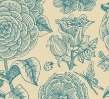 Garden Bliss - teal & cream  Sticker