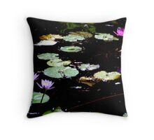 Lilly pads off the trail Throw Pillow