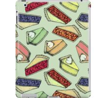 Easy As Pie - cute illustrations of pie on sage green  iPad Case/Skin