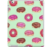 Delicious Donuts - on mint green  iPad Case/Skin