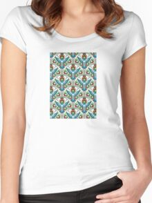 Bluebird In The Strawberry Patch  Women's Fitted Scoop T-Shirt