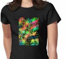 Tropical Jungle at Midnight Womens Fitted T-Shirt