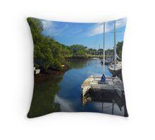 Idyllic Creek Throw Pillow