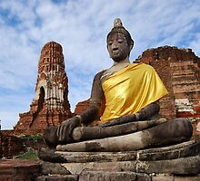 Ayutthaya Sitting Buddha by Nicholas Richardson
