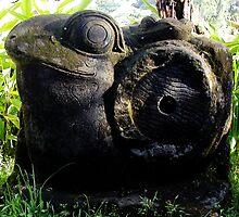 Stone Frog in Murni's Villas, Bali by JonathaninBali