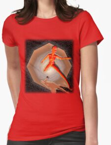 Space Woman Womens Fitted T-Shirt