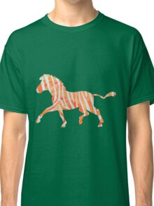Zebra Orange and White Print Classic T-Shirt