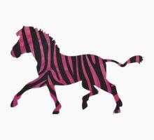 Zebra Black and Hot Pink Print by Traci VanWagoner