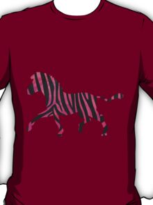 Zebra Black and Hot Pink Print T-Shirt