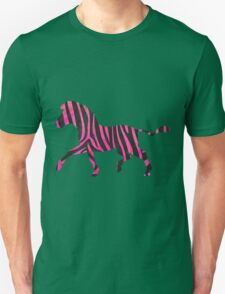 Zebra Black and Hot Pink Print Unisex T-Shirt